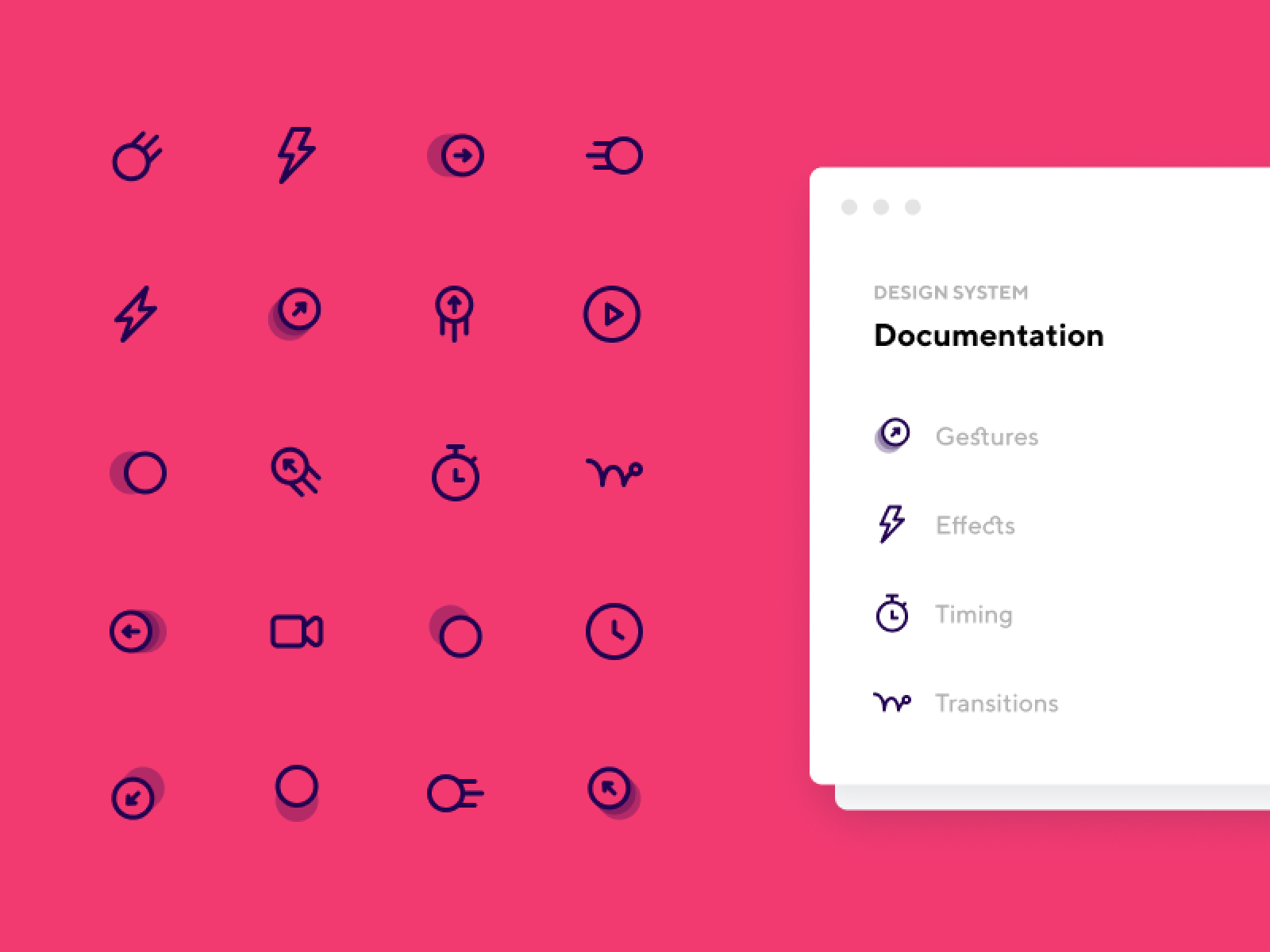 Animation & Motion Icon Pack