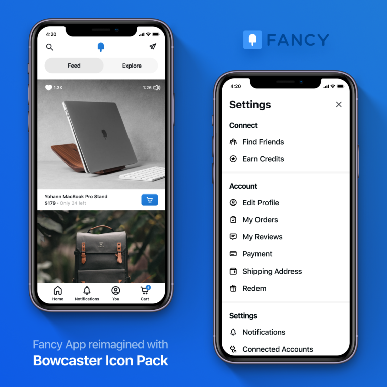 Fancy Mobile App reimagined