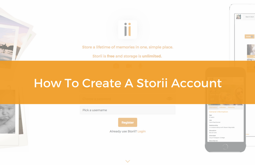 How to create a Storii account