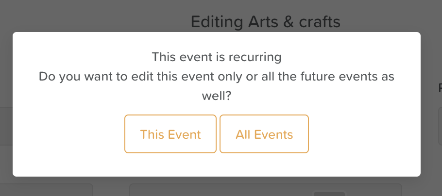 Apply Changes to This Event or All Events
