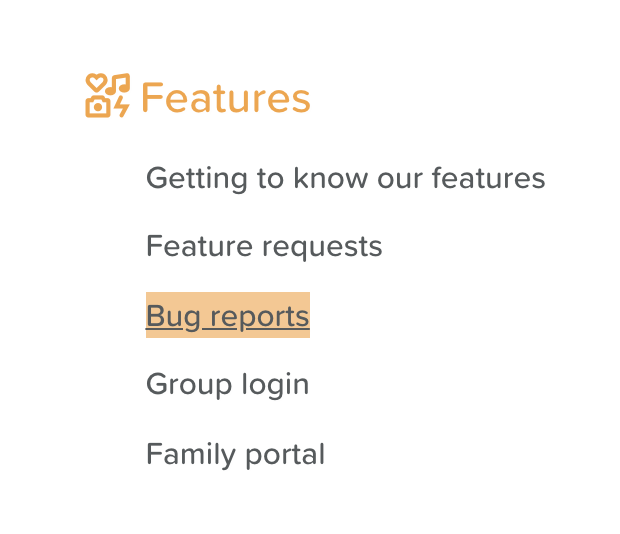 Bug Reports in StoriiCare's Support Section