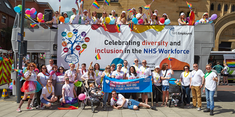 NHS workers at Pride Parade