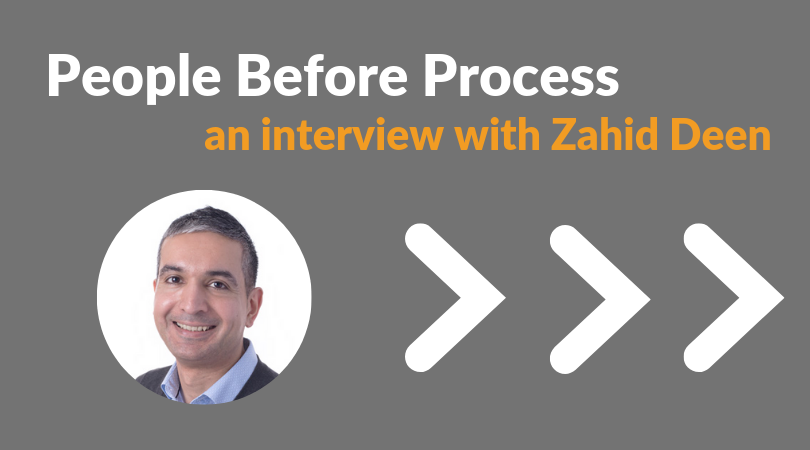 People Before Process: An Interview With Zahid Deen