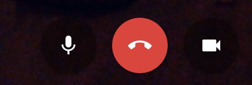 Google Hangouts Bottom Menu
