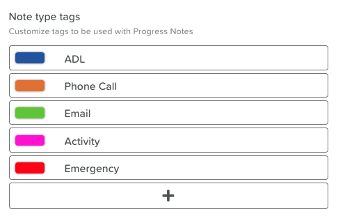 Customize Note Tags