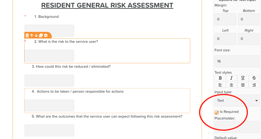 Required Fields: Ensure 'Is Required' is checked