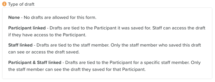 Explanation of draft types