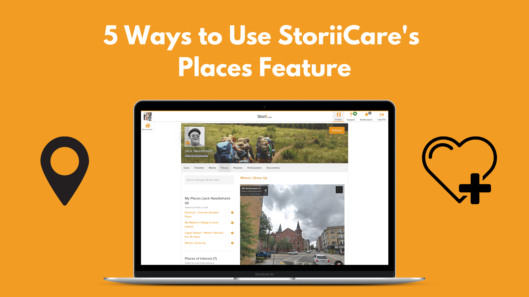 5 Ways to Use StoriiCare's Places Feature