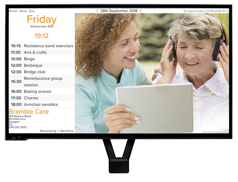 senior care digital signage