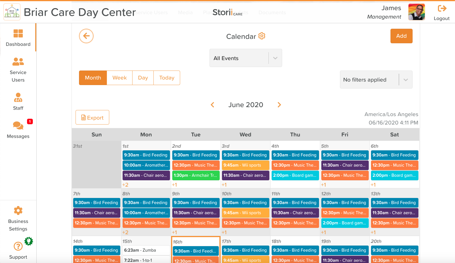 activity calendar software
