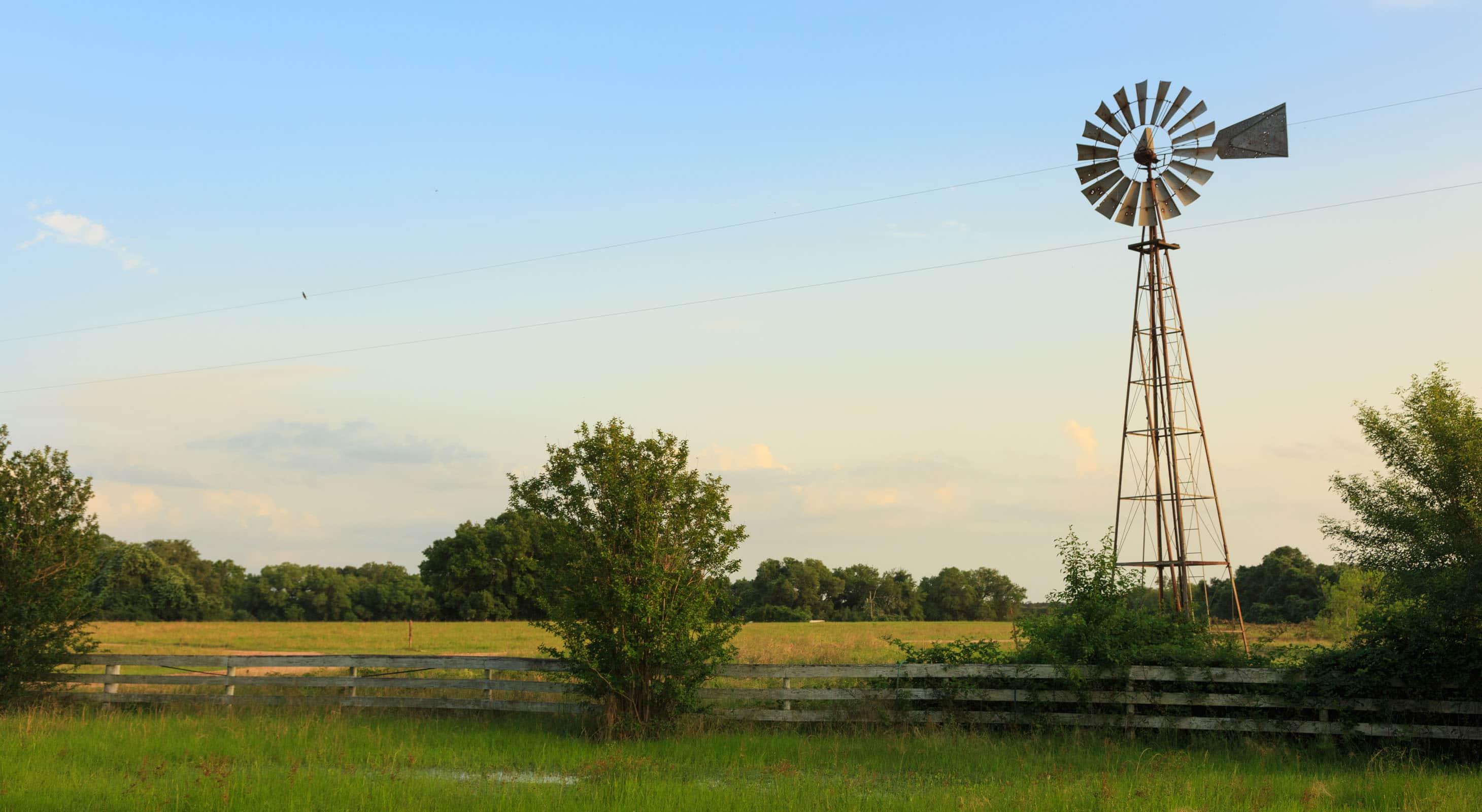 A windmill on a Texas ranch wedding venue