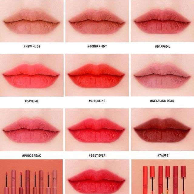 Son 3CE Velvet Lip Tint màu nào đẹp nhất?