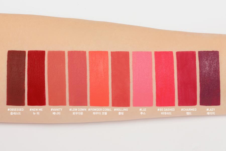 3CE Liquid Lip Color với 10 màu sắc cho các nàng tha hồ chọn lựa