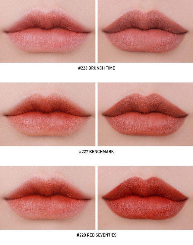 Ba màu sắc mang đậm nét chanh sả của 3CE Matte Lip Color