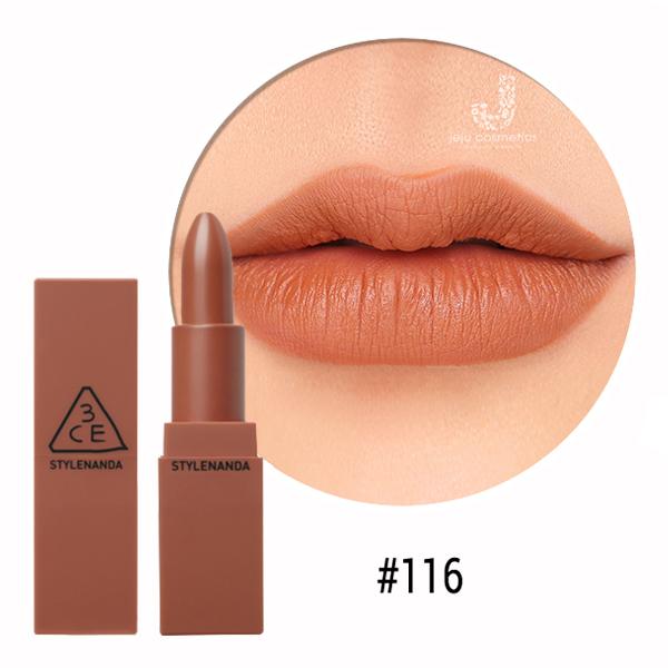 3CE 116 Mood Recipe Matte Lip Color với màu sắc tinh tế