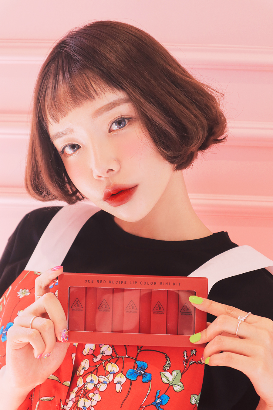 Set son 3CE mini Red Recipe Lip Color