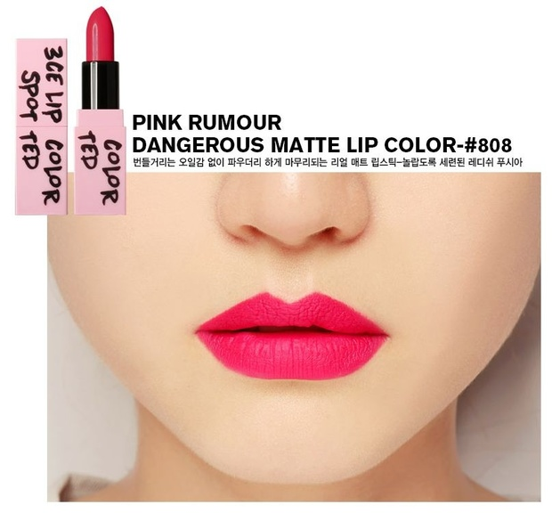 3CE Pink Rumour Lip Color