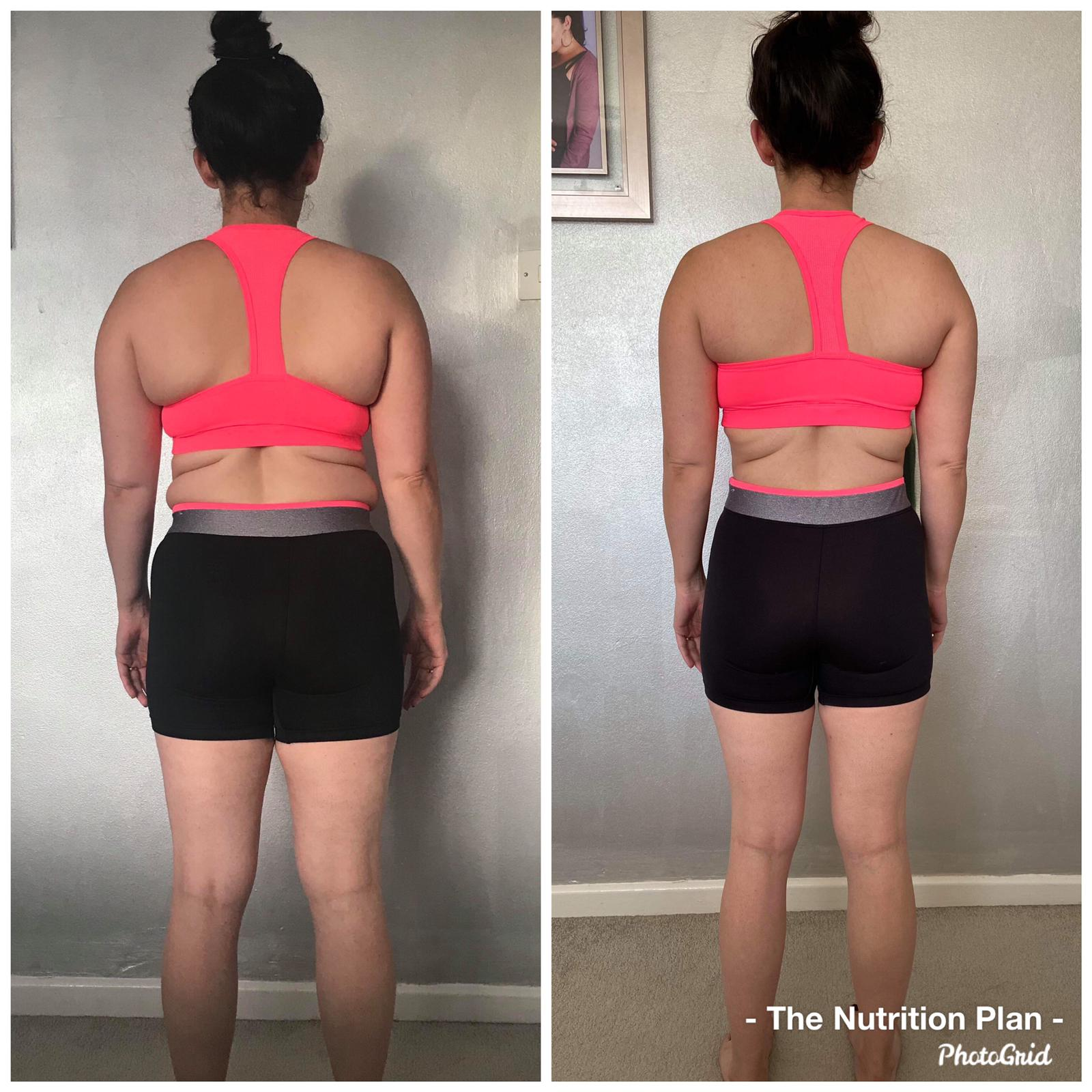 Fat loss progress female back