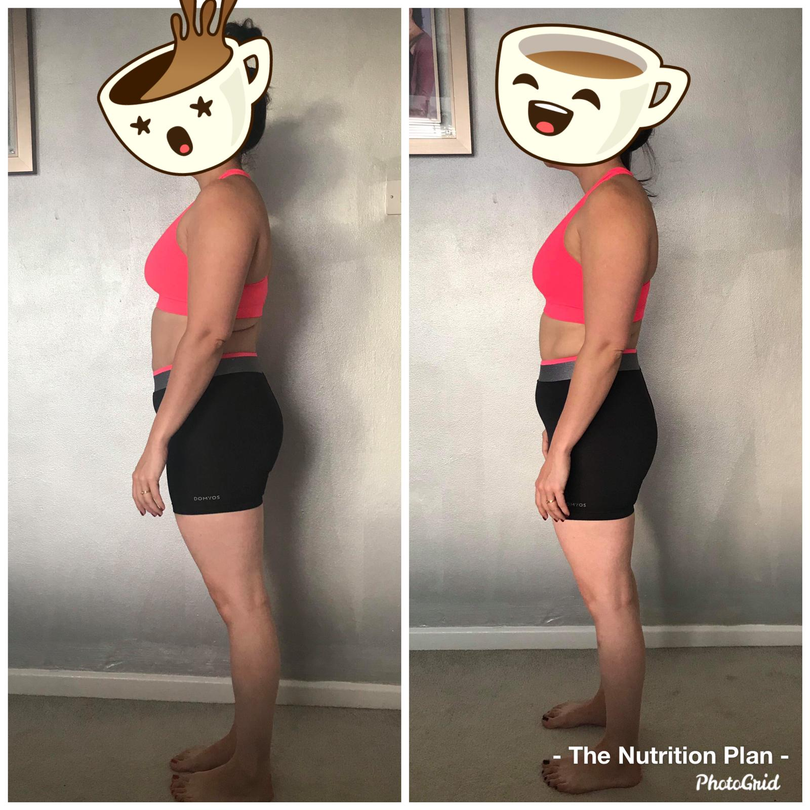 Fat loss progress female side