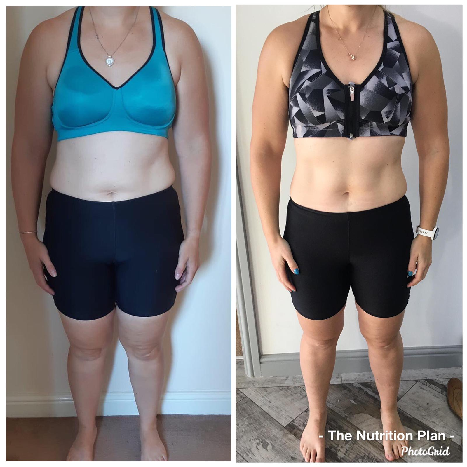 Postpartum fat loss front