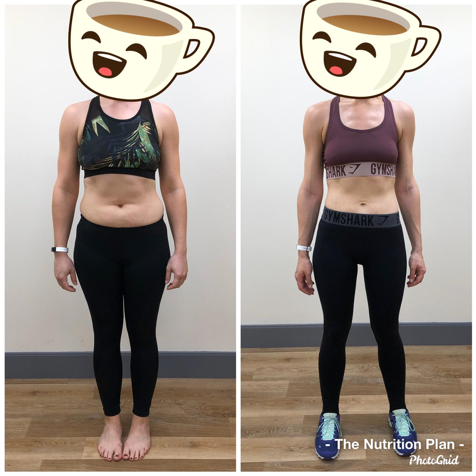 Female weight loss progress front