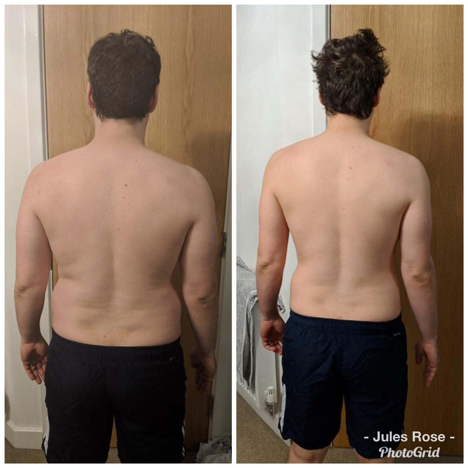 Male fat loss progress