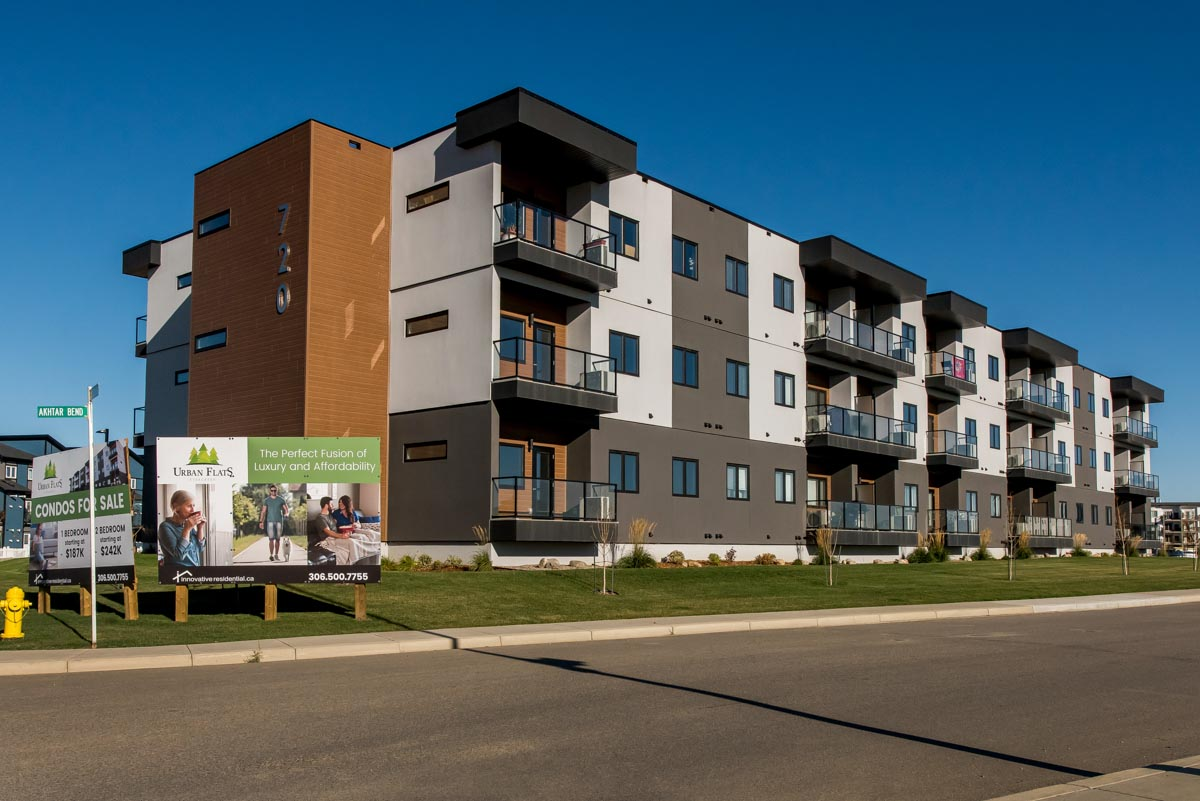 The Urban Flats 1 apartments in Saskatoon, Sask.