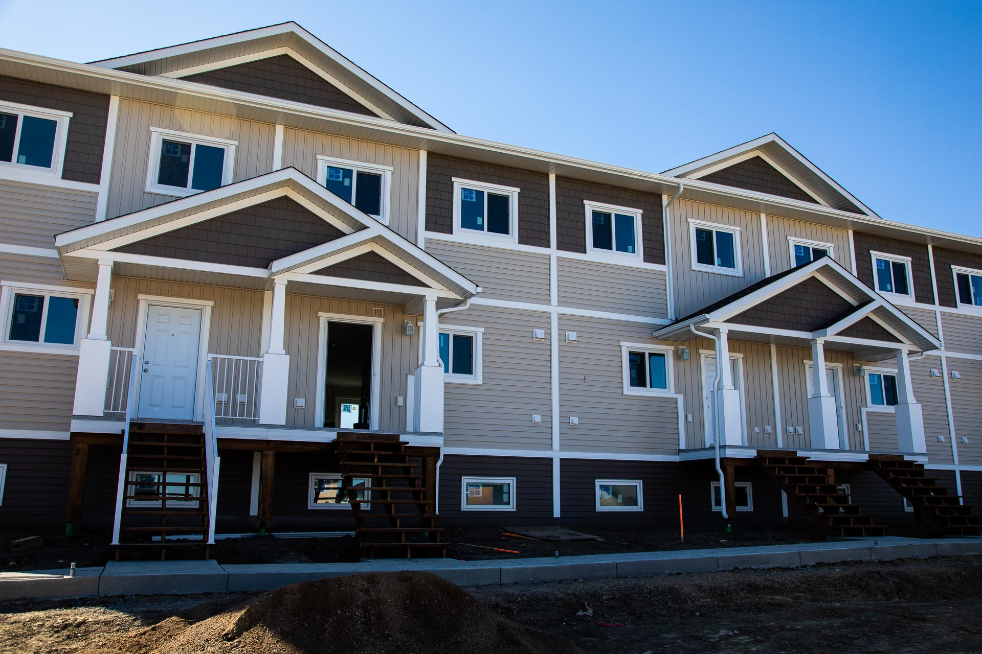 A rendering of the Willowview Heights townhouses in Saskatoon, Sask.
