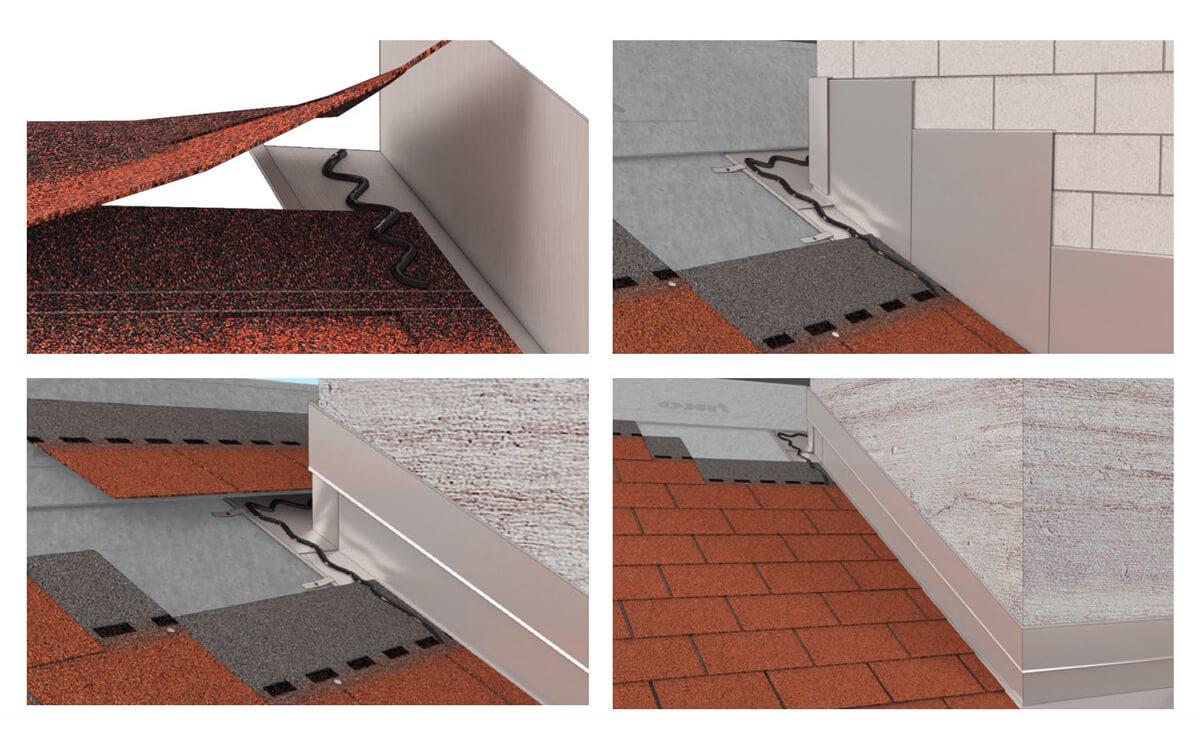 Instalación Teja Asfáltica - Madera - Paso 8:Flanches metálicos