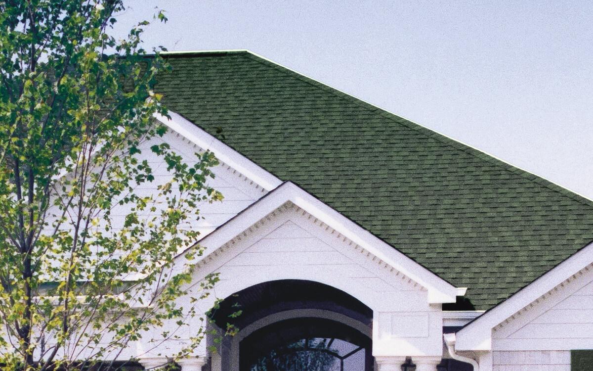 Ejemplo de Teja Asfaltica Cambridge Vintage Green utilizado en el techo (7)