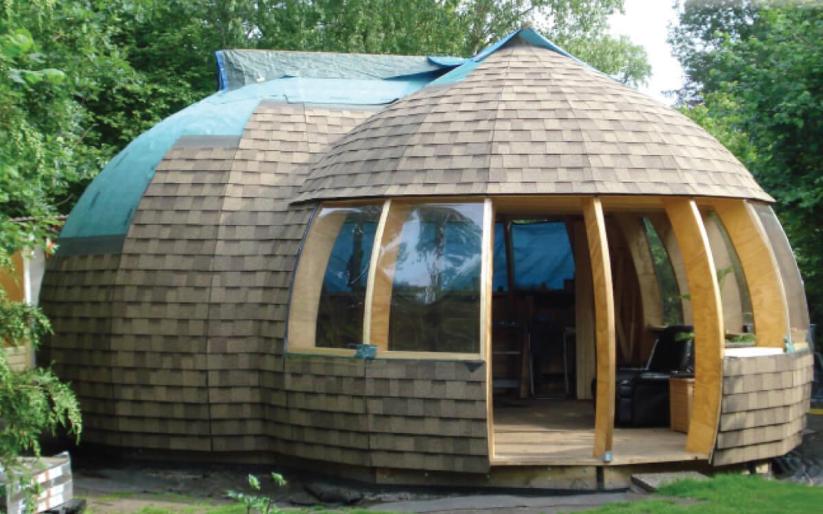 Ejemplo de Teja Asfaltica Cambridge Earthtone Cedar utilizado en el techo (4)