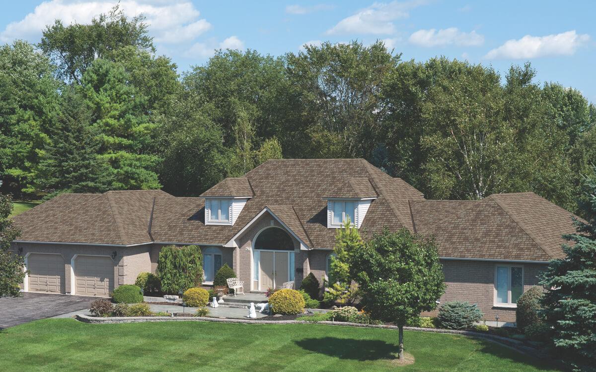 Ejemplo de Teja Asfaltica Royal Estate Harvest Slate utilizado en el techo