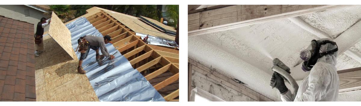 Aislantes Térmicos para un techo con Teja Asfáltica: Barrera Radiante y Espuma en Aerosol