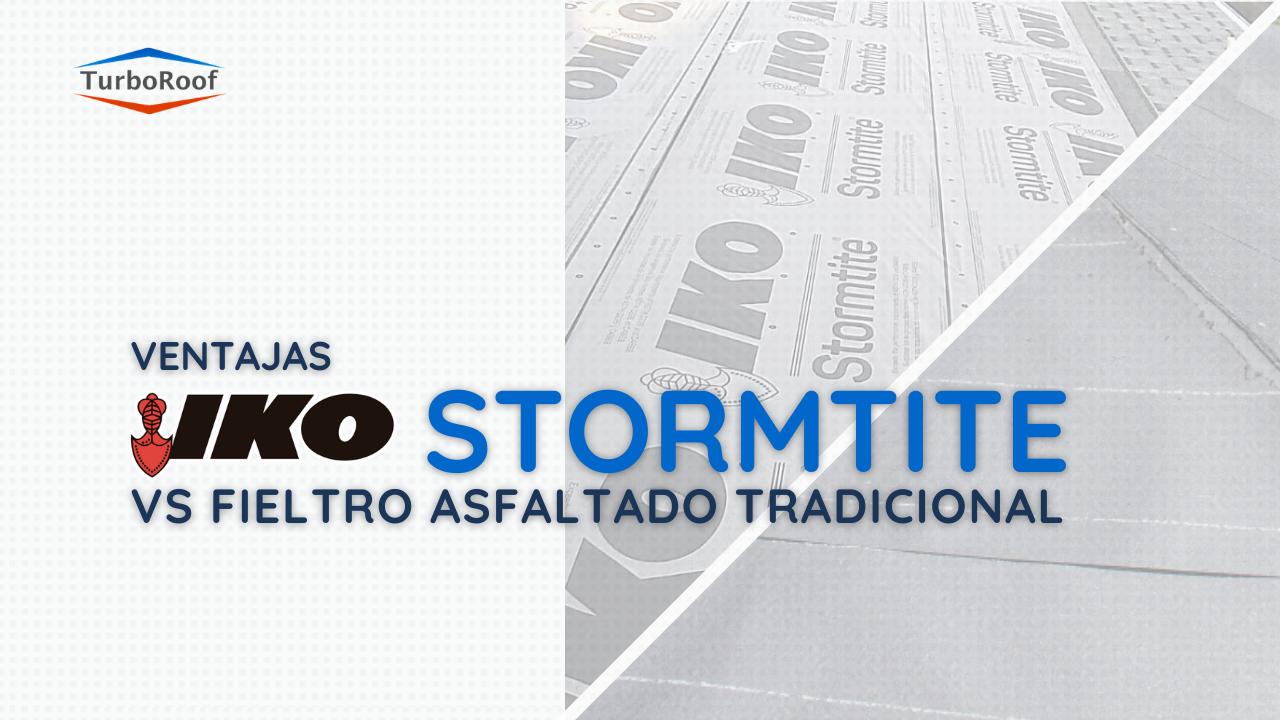 Ventajas del IKO Stormtite vs Fieltro Asfaltado Tradicional