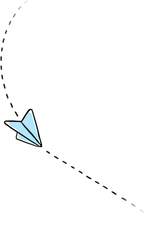 A paper plane illustration