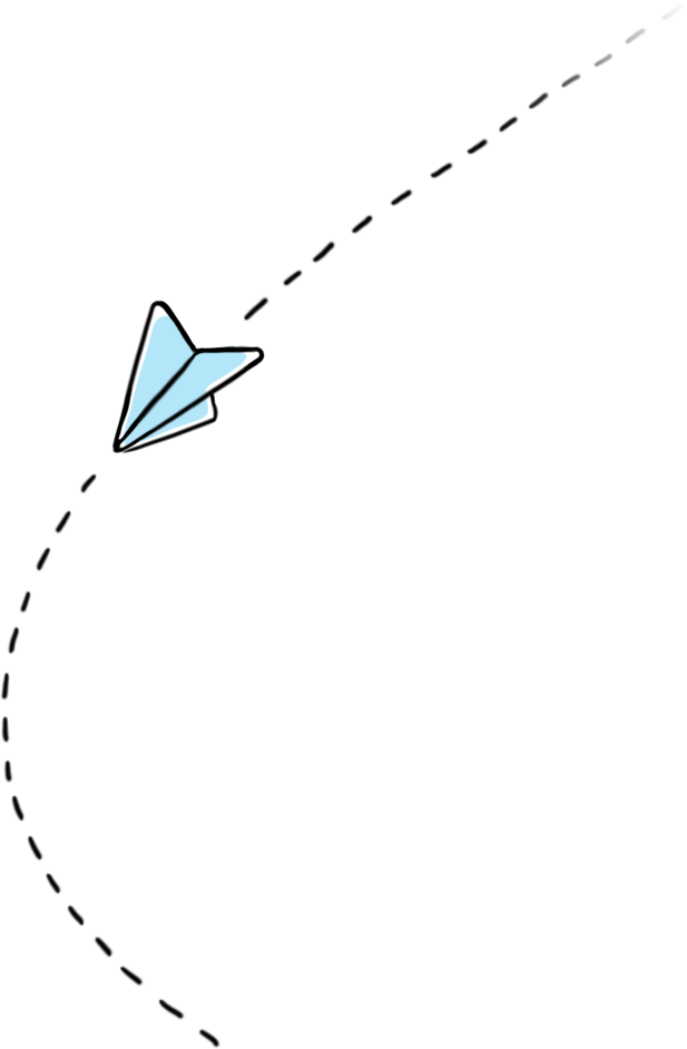 A decorative paper plane image