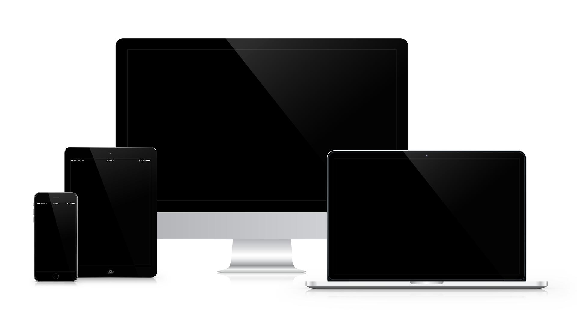 Eine Übersicht von Geräten für das responsive Webdesign