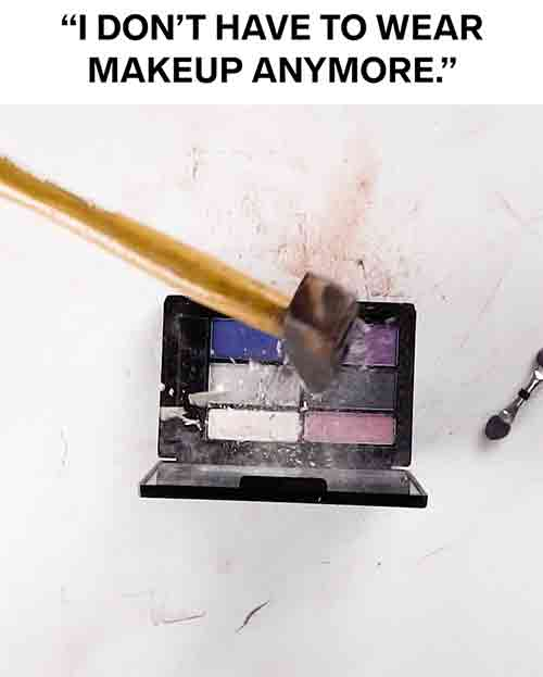 Blazer Agency Thumbnail of Video Ad where Makeup Is Being Destroyed