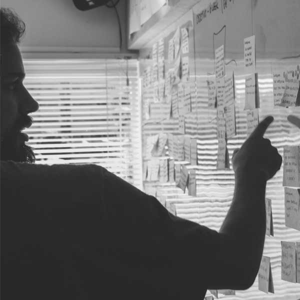 image of a man conducting strategy session