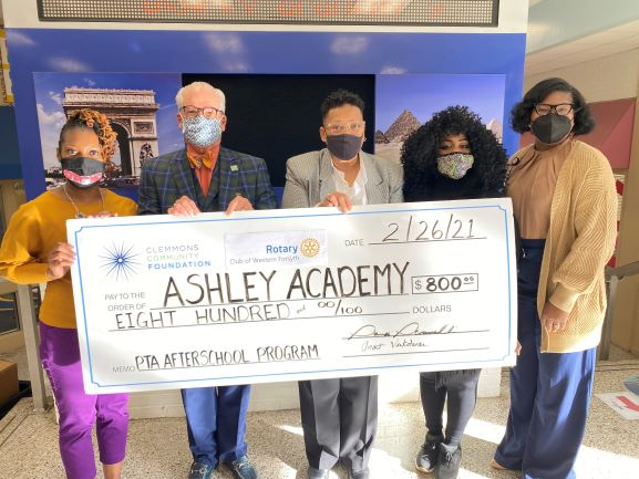 Rotary Club of Western Forsyth Supports Ashley Academy After School Program