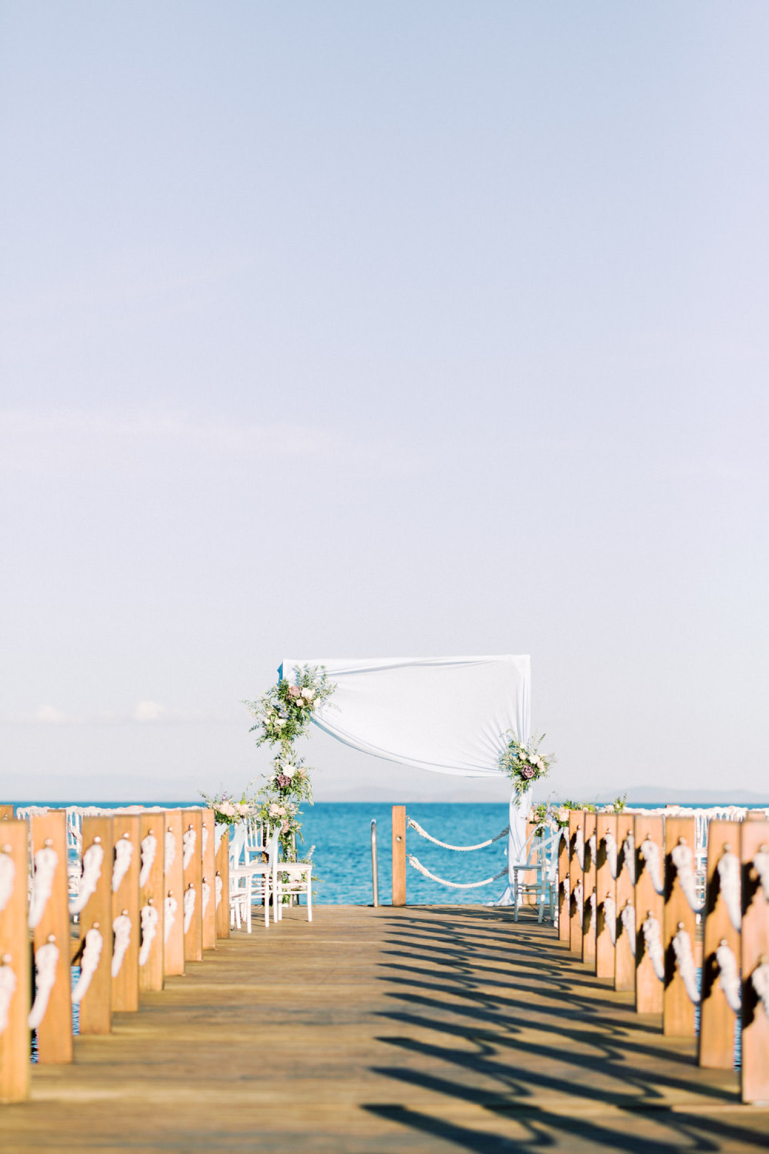 Mediterranean Seaside Wedding Ceremony