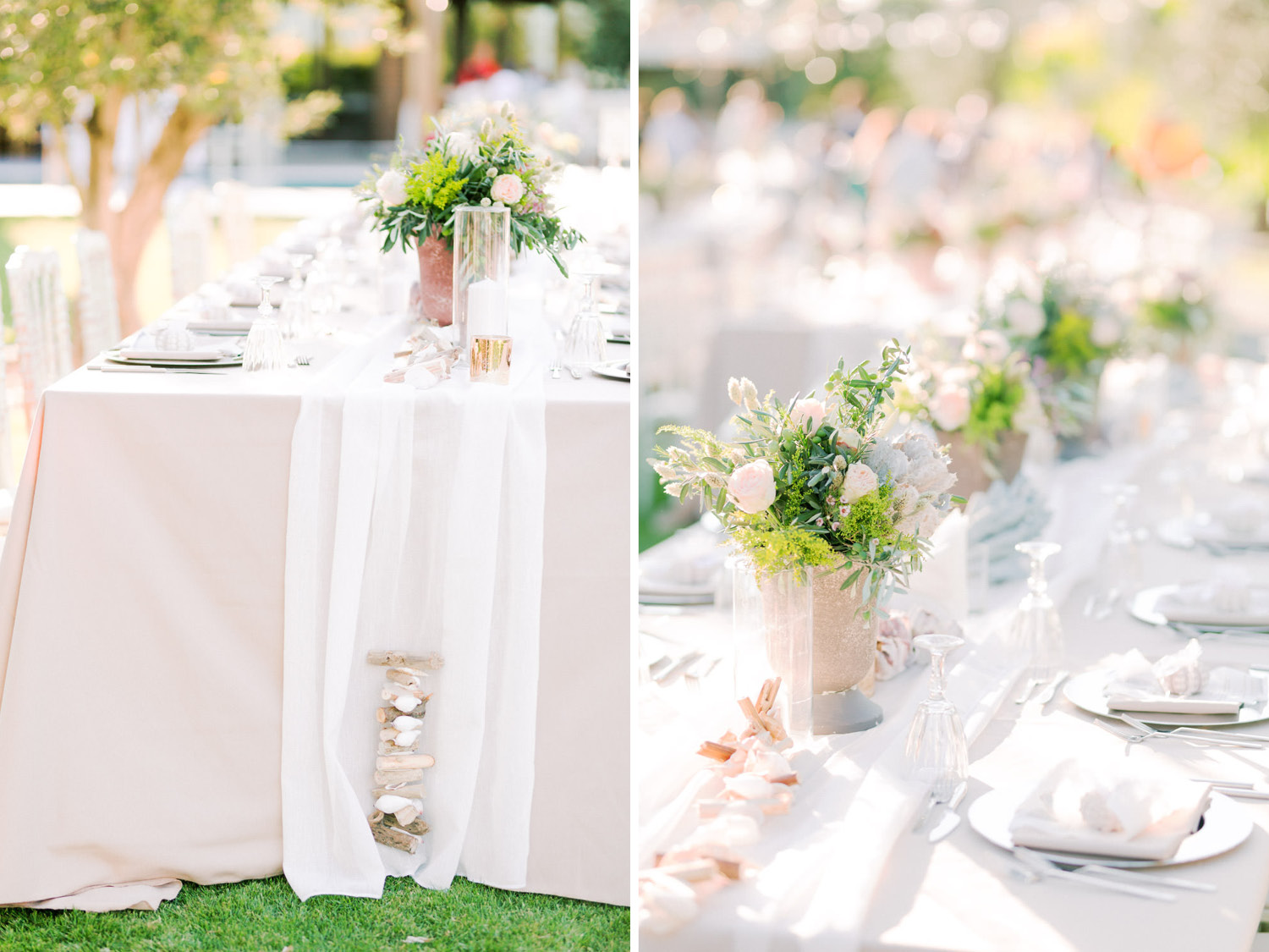 Mediterranean Seaside Wedding Table Design