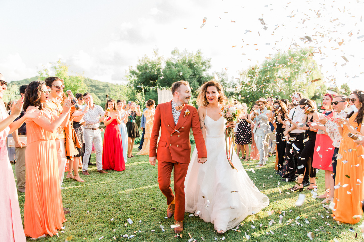 Colorful Countryside Wedding Ceremony