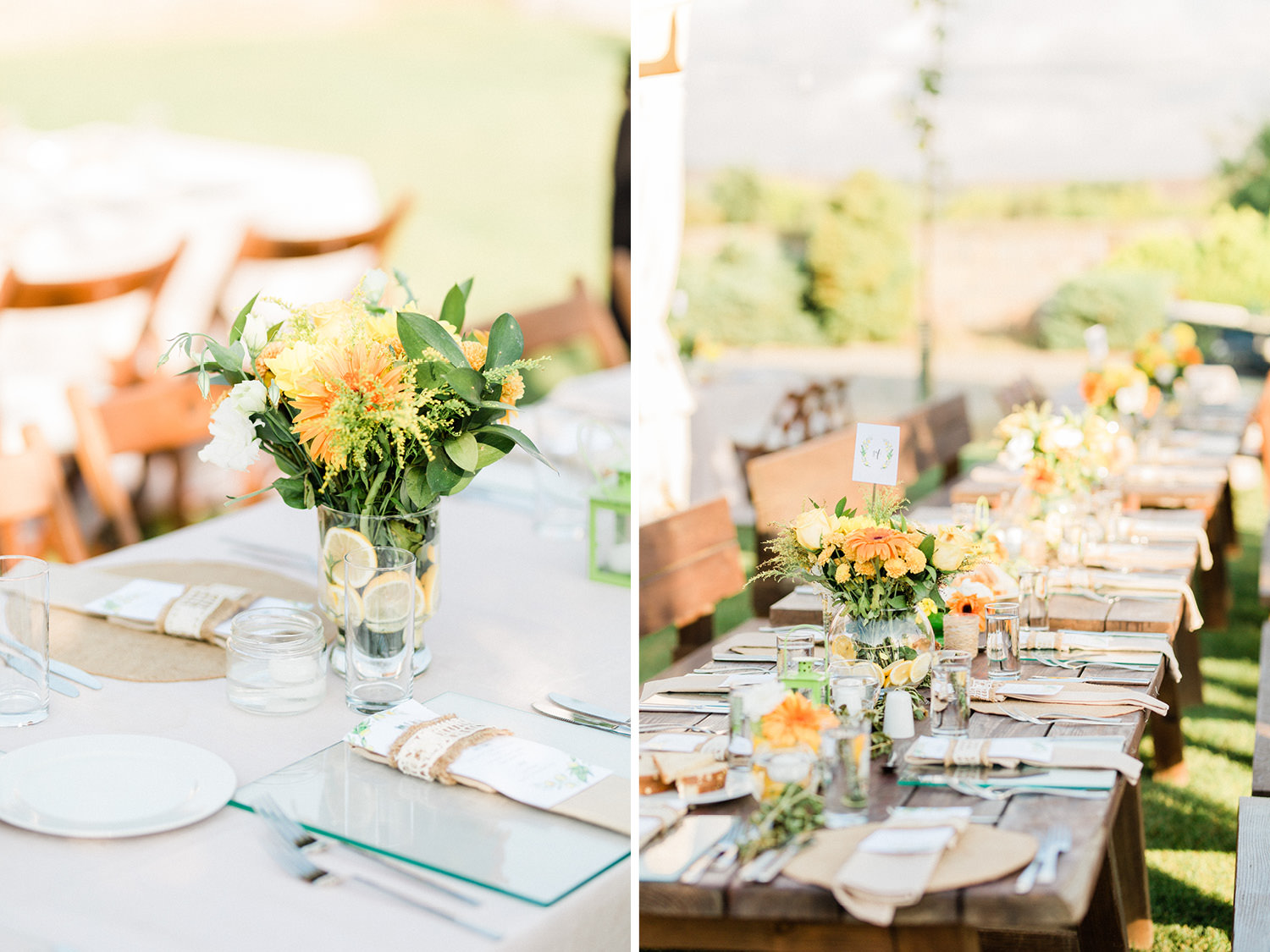 Colorful Countryside Wedding Table Design