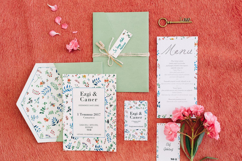 Casa Dell'Arte Bodrum Wedding Flat Lay