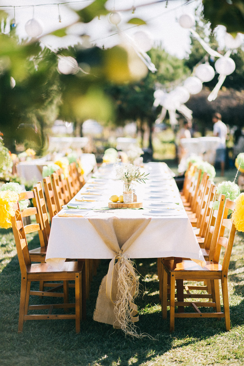 Bozcaada Wedding Table Setup