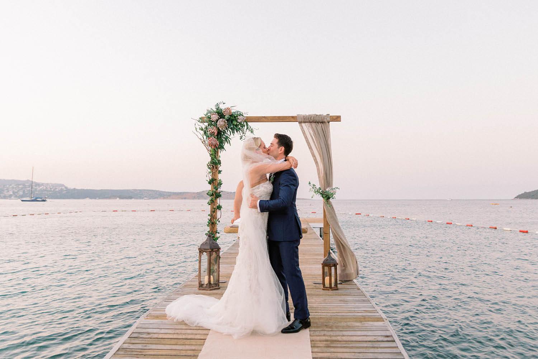 Elopement Wedding Photograher - Flamm Bodrum Wedding Ceremony