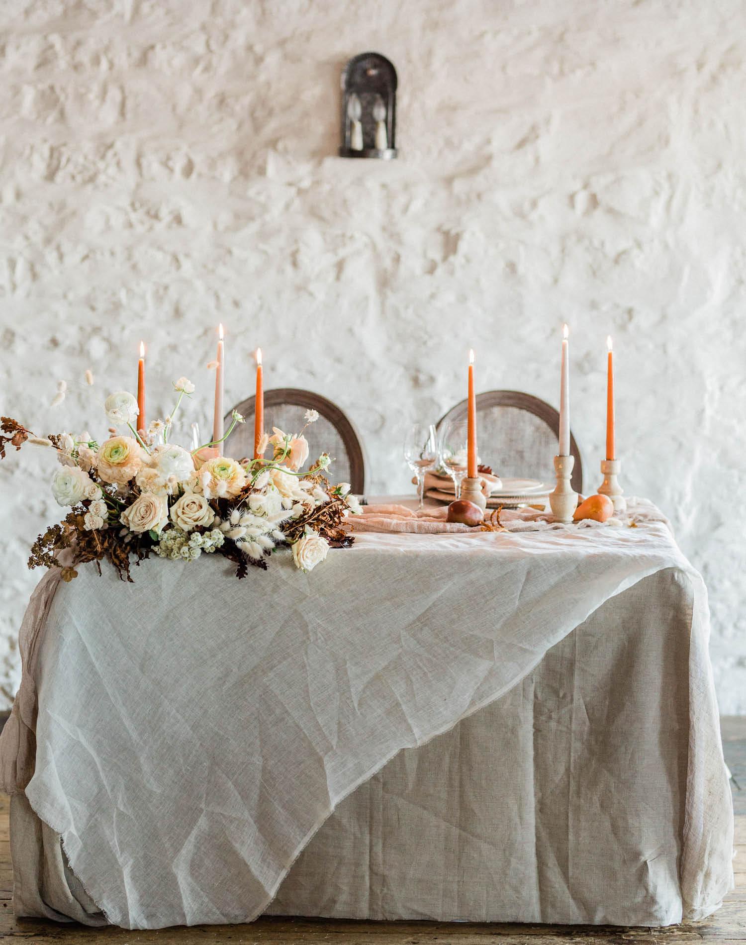 French Farm House Inspired Wedding in Quebec Auberge Saint-Antoine - Wedding Table