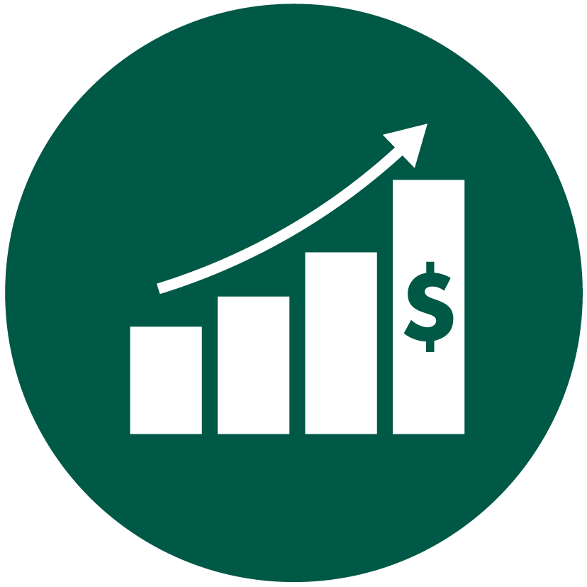 Icono rentabilidad ascendente