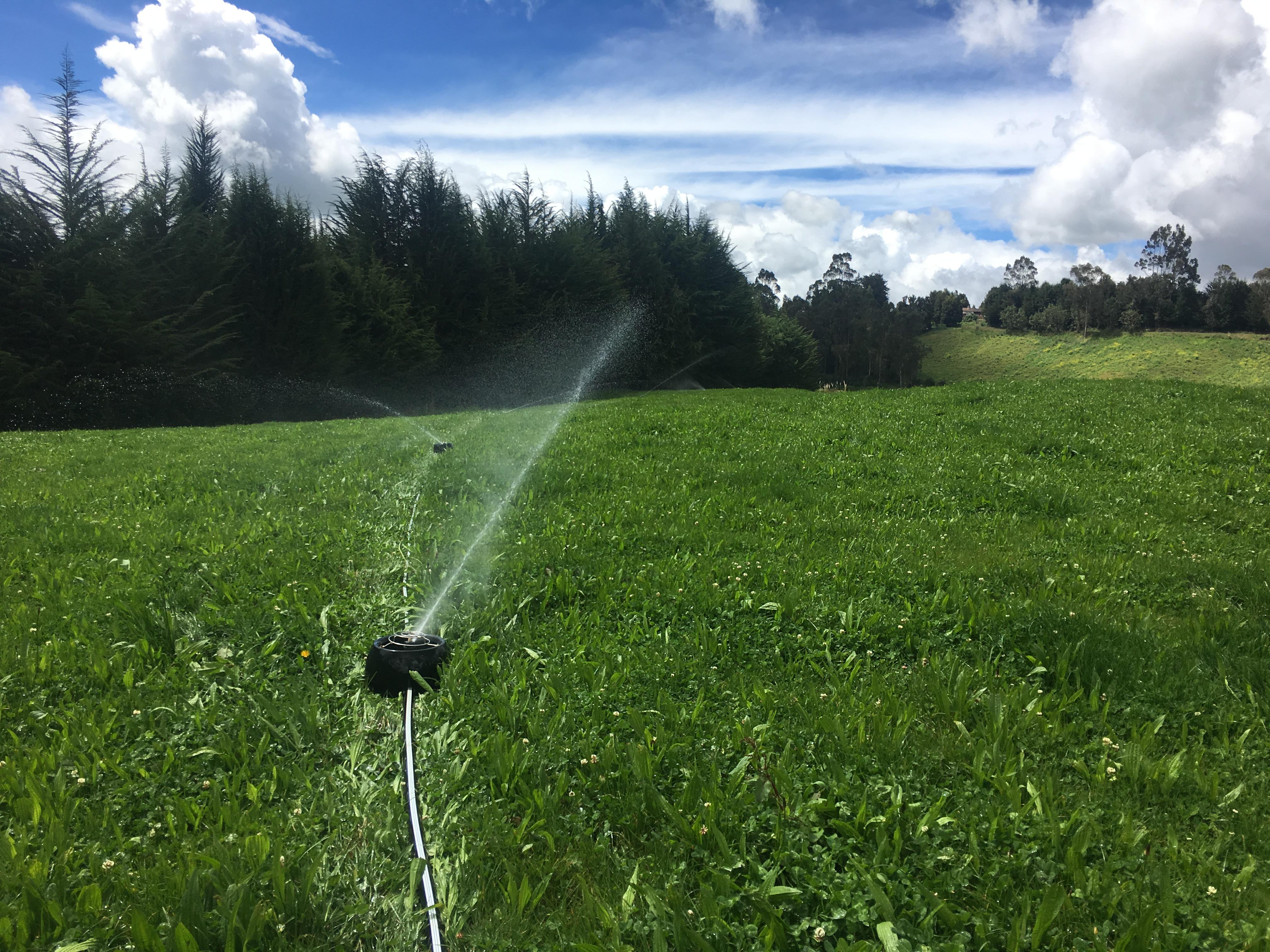 Sistemas de riego K-Line para pasturas en la provincia del Carchi Ecuador